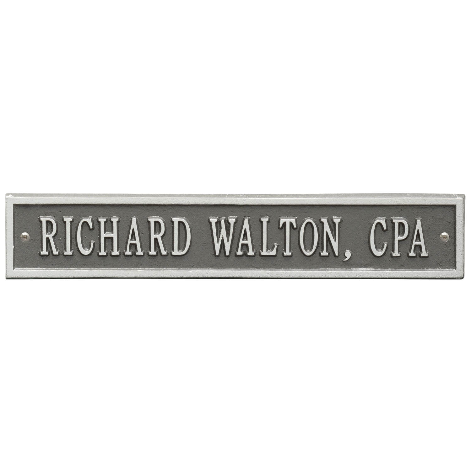 Arch Extension Name Plaque in Pewter/Silver Standard Wall ...