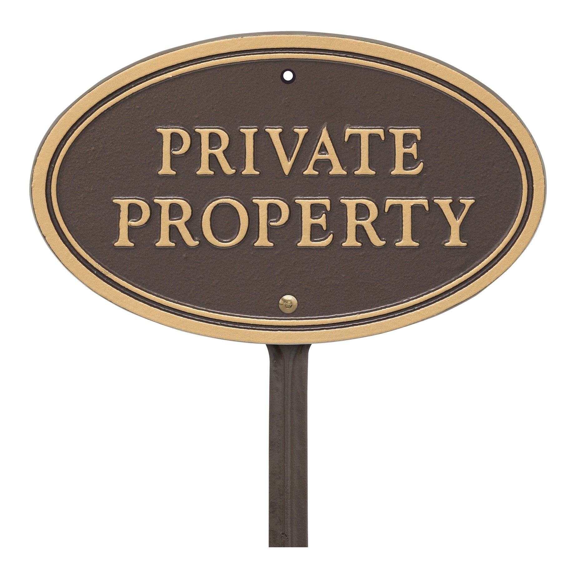 Private Property Sign Plaque