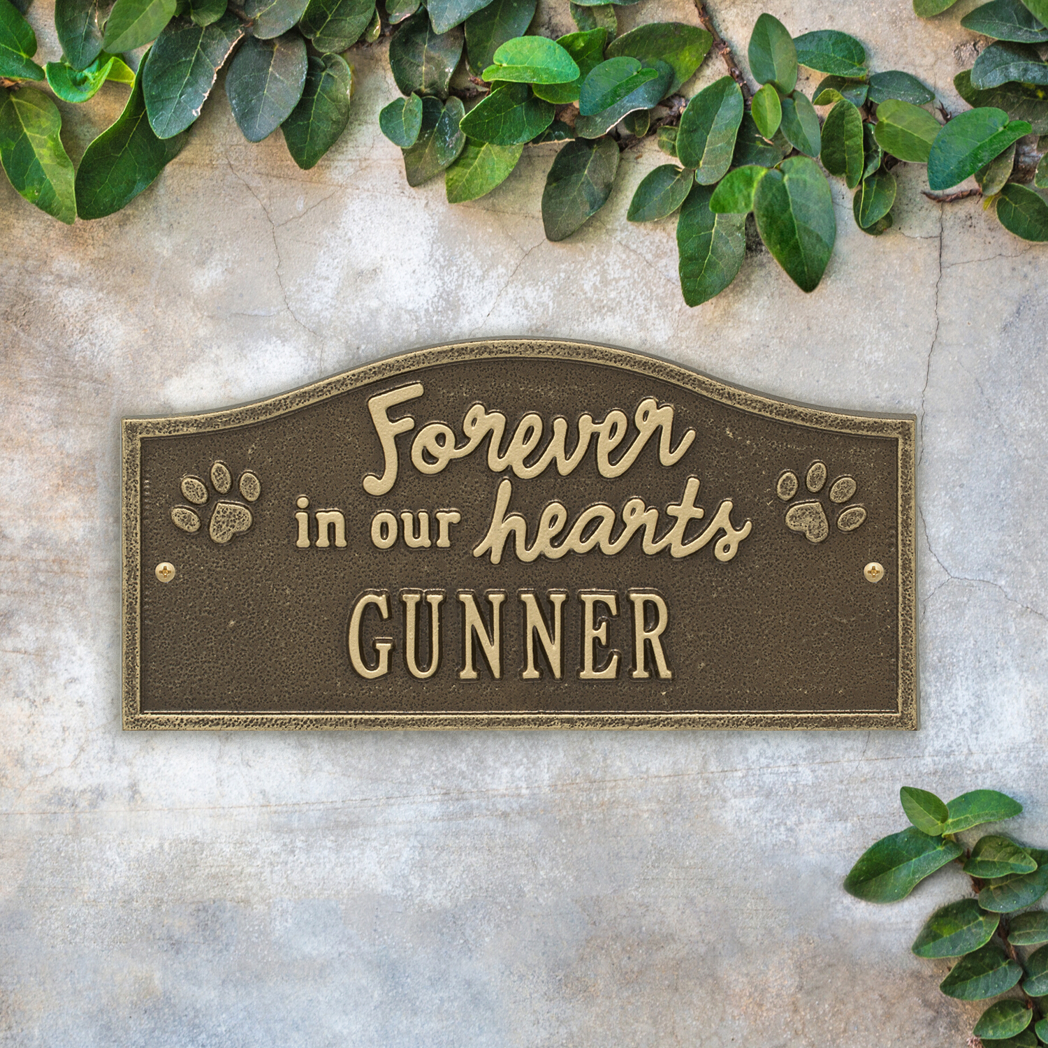 Accent Wall Là Gì: Forever In Our Hearts Memorial Plaque Antique Brass With 1