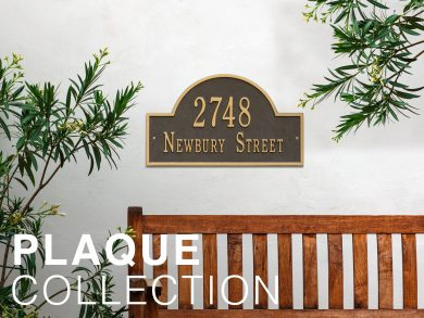 Arched Address Plaque on Wall
