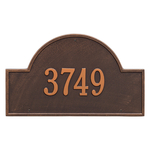 Arch Marker Address Plaque with a Antique Copper Finish, Estate Wall Mount with One Line of Text