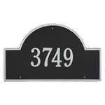 Arch Marker Address Plaque with a Black & Silver Finish, Estate Wall Mount with One Line of Text