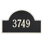 Arch Marker Address Plaque with a Black & White Finish, Estate Wall Mount with One Line of Text