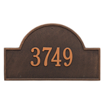 Arch Marker Address Plaque with a Oil Rubbed Bronze Finish, Estate Wall Mount with One Line of Text