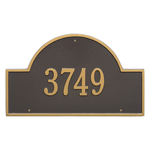 Arch Marker Address Plaque with a Bronze & Gold Finish, Estate Wall Mount with One Line of Text