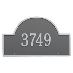 Arch Marker Address Plaque with a Pewter & Silver Finish, Estate Wall Mount with One Line of Text