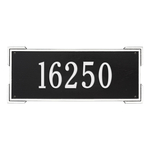 Rectangle Shape Address Plaque Named Roanoke with a Black & White Finish, Estate Wall with One Line of Text