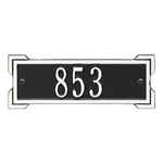 Rectangle Shape Address Plaque Named Roanoke with a Black & White Plaque Petite Wall with One Line of Text