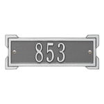 Rectangle Shape Address Plaque Named Roanoke with a Pewter & Silver Plaque Petite Wall with One Line of Text