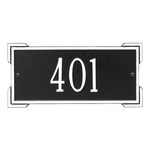 Rectangle Shape Address Plaque Named Roanoke with a Black & White Plaque Mini Wall with One Line of Text