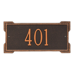 Rectangle Shape Address Plaque Named Roanoke with a Oil Rubbed Bronze Plaque Mini Wall with One Line of Text