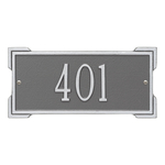 Rectangle Shape Address Plaque Named Roanoke with a Pewter & Silver Plaque Mini Wall with One Line of Text