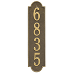 Personalized Richmond Style Vertical Estate Wall Plaque with a Antique Brass Finish