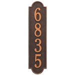 Personalized Richmond Style Vertical Estate Wall Plaque with a Oil Rubbed Bronze Finish