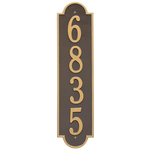 Personalized Richmond Style Vertical Estate Wall Plaque with a Bronze & Gold Finish