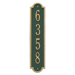 Personalized Richmond Style Vertical Wall Plaque with a Green & Gold Finish