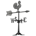 24 in. Rooster Accent Weathervane Black
