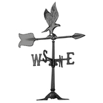 24 in. Eagle Accent Weathervane Black