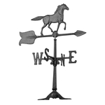 24 in. Horse Weathervane Black