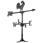 30 in. Rooster Weathervane Black