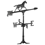 30 in. Horse Weathervane Black