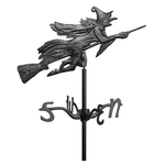 Flying Witch Garden Weathervane Black