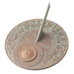 Perpetual Calendar Sundial Copper Verdigris