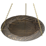 Dragonfly Bird Bath Bowl Oil Rub Bronze