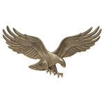 29 in. Wall Eagle Antique Brass