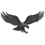 36 in. Wall Eagle Black