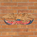24 in. Patriotic Wall Eagle Color