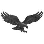 29 in. Wall Eagle Black