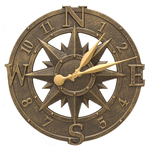 16 in. Compass Rose Clock