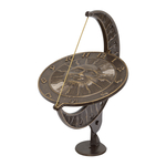 Sun and Moon Sundial French Bronze