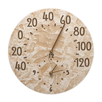 Fossil Sumac Thermometer Clock Weathered Limestone