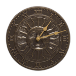 Sunface Clock French Bronze