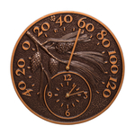 Pinecone Thermometer Clock Antique Copper
