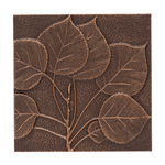 Aspen Leaf Wall Decoration Antique Copper