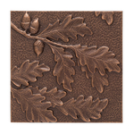 Oak Leaf Wall Decoration Antique Copper