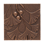 Gingko Leaf Wall Decoration Antique Copper