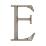 6 in. Classic Letter E Nickel