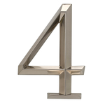6 in. Classic Number 4 Polished Nickel