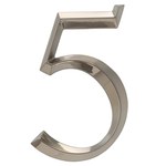 6 in. Classic Number 5 Polished Nickel