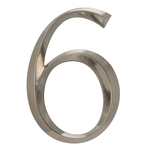 6 in. Classic Number 6 Polished Nickel