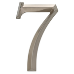 6 in. Classic Number 7 Polished Nickel