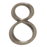 6 in. Classic Number 8 Polished Nickel