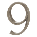 6 in. Classic Number 9 Polished Nickel