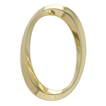 6 in. Classic Number 0 Polished Brass