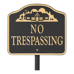 No Trespassing Sign Wall or Lawn Mounting