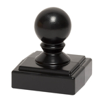 Ball Finial Black